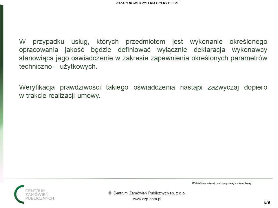 55 © Centrum Zamówień Publicznych sp. z o.o. www.czp.com.pl Widzieliśmy więcej,.