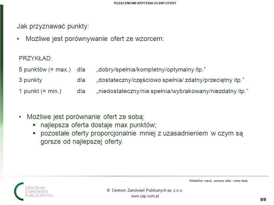 10 © Centrum Zamówień Publicznych sp.z o.o. www.czp.com.pl Widzieliśmy więcej,.