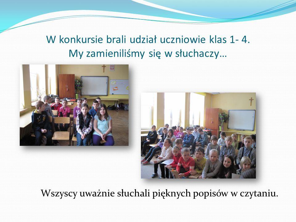 W konkursie brali udział uczniowie klas 1- 4.
