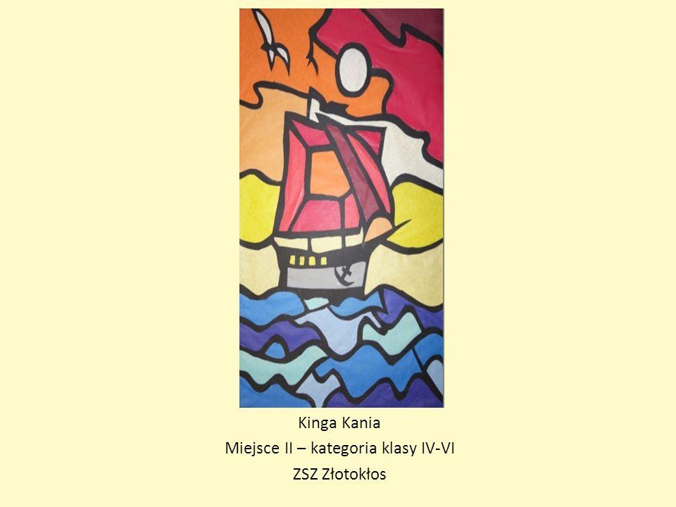 Kinga Kania Miejsce II – kategoria klasy IV-VI ZSZ Złotokłos