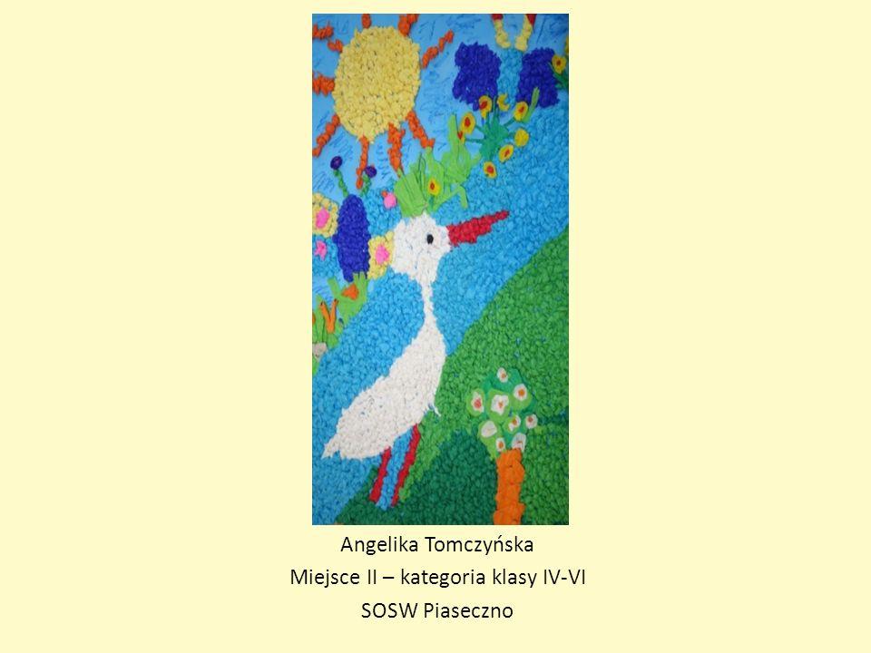 Angelika Tomczyńska Miejsce II – kategoria klasy IV-VI SOSW Piaseczno