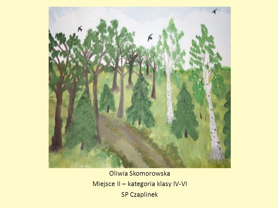 Oliwia Skomorowska Miejsce II – kategoria klasy IV-VI SP Czaplinek