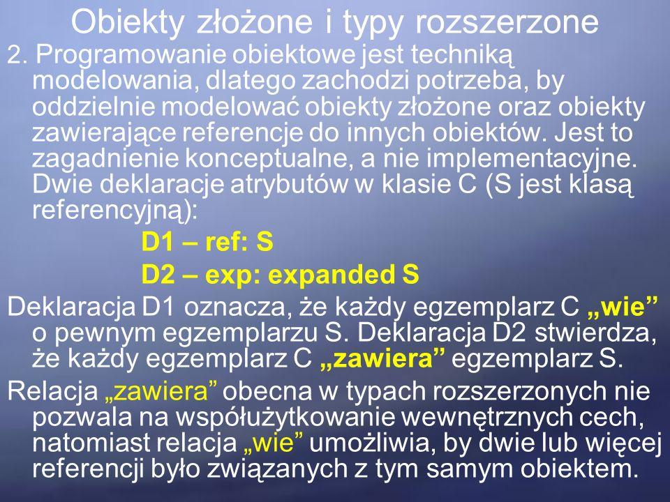 Obiekty złożone i typy rozszerzone 2.
