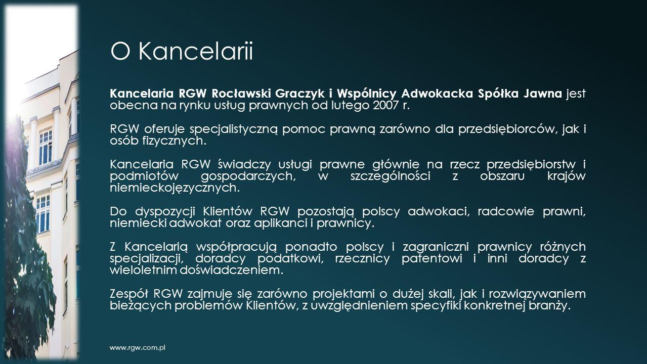 O Kancelarii Kancelaria RGW Rocławski Graczyk i Wspólnicy Adwokacka Spółka Jawna jest obecna na rynku usług prawnych od lutego 2007 r.