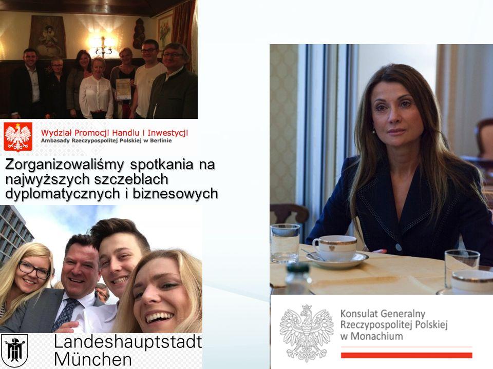 Zorganizowaliśmy spotkania na najwyższych szczeblach dyplomatycznych i biznesowych