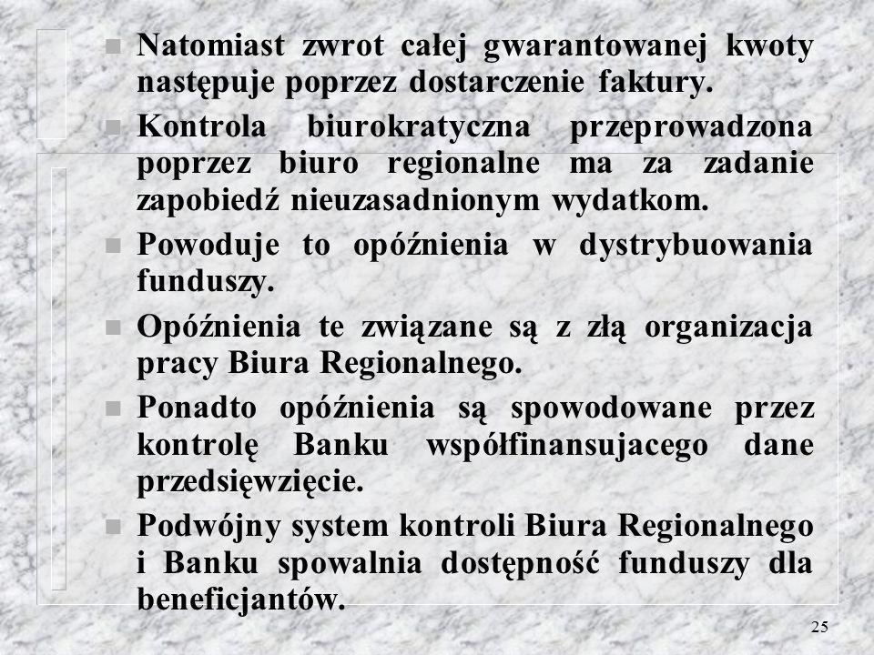 24 n Zaistnienie LAG-u spowodowało zmianę nastawienia mieszkańców małych miast w kierunku lepszej współpracy. n Poszerzenie partnerstwa nie jest popie