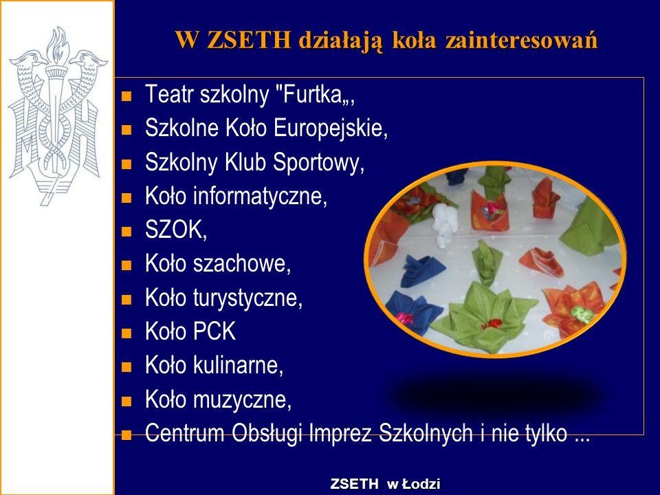 W ZSETH działają koła zainteresowań Teatr szkolny