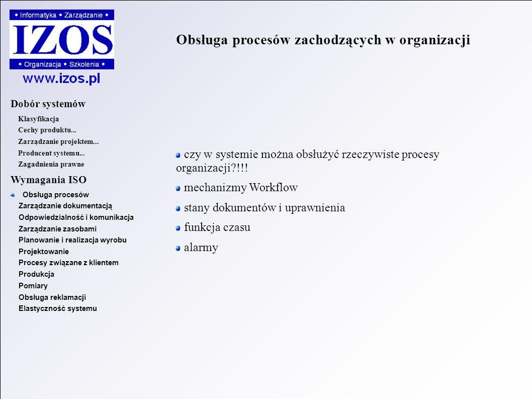 Obsługa procesów zachodzących w organizacji czy w systemie można obsłużyć rzeczywiste procesy organizacji !!.