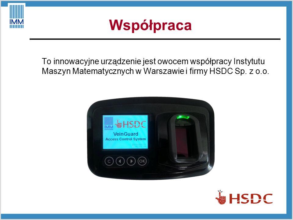Współpraca To innowacyjne urządzenie jest owocem współpracy Instytutu Maszyn Matematycznych w Warszawie i firmy HSDC Sp.
