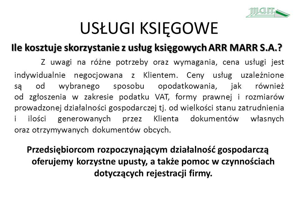 Usługi Proinnowacyjne Agencja Rozwoju Regionalnego MARR S.A.