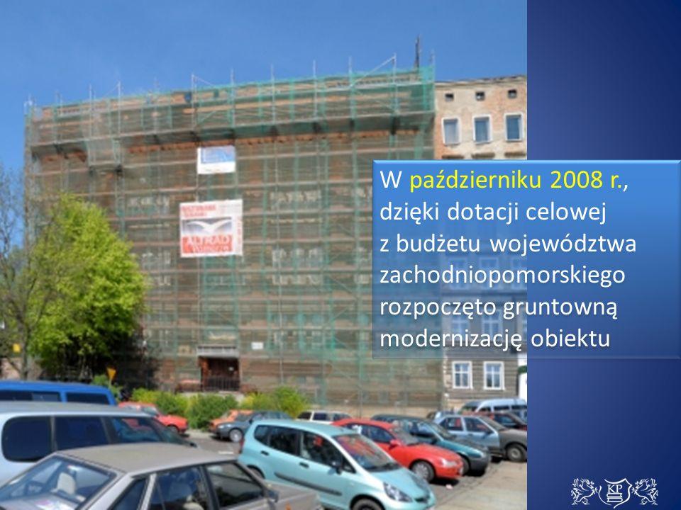 W październiku 2008 r., dzięki dotacji celowej z budżetu województwa zachodniopomorskiego rozpoczęto gruntowną modernizację obiektu W październiku 2008 r., dzięki dotacji celowej z budżetu województwa zachodniopomorskiego rozpoczęto gruntowną modernizację obiektu