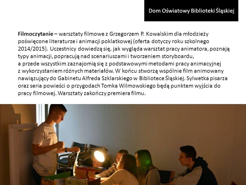 Filmoczytanie – warsztaty filmowe z Grzegorzem P.