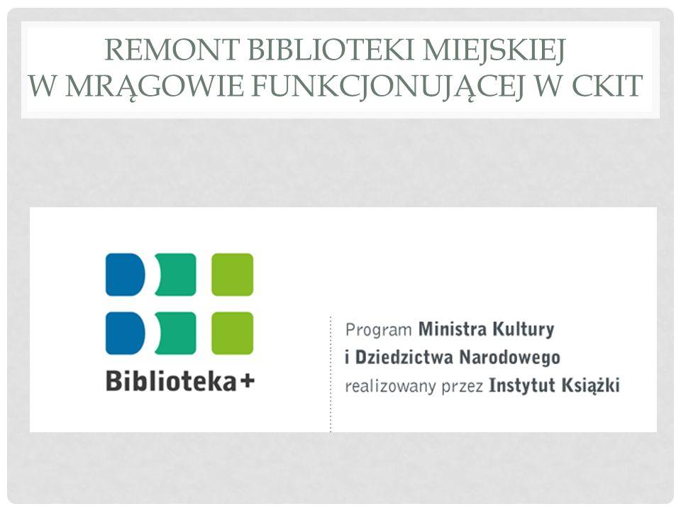 PROGRAM WIELOLETNI KULTURA+ PRIORYTET BIBLIOTEKA+.