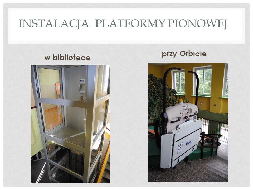 INSTALACJA PLATFORMY PIONOWEJ w bibliotece przy Orbicie