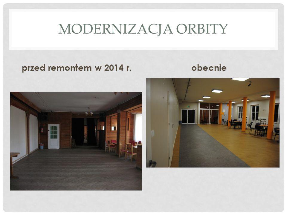 MODERNIZACJA ORBITY przed remontem w 2014 r.obecnie