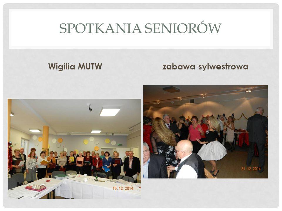 SPOTKANIA SENIORÓW Wigilia MUTWzabawa sylwestrowa