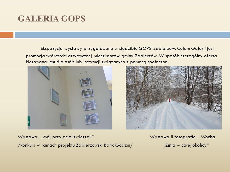 GALERIA GOPS Ekspozycja wystawy przygotowana w siedzibie GOPS Zabierzów.