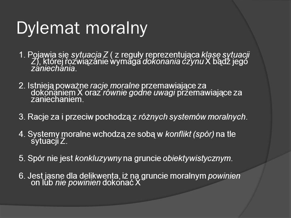 Pole racjonalnego wyboru systemów moralnych 1.Katolicka teoria prawa naturalnego 2.