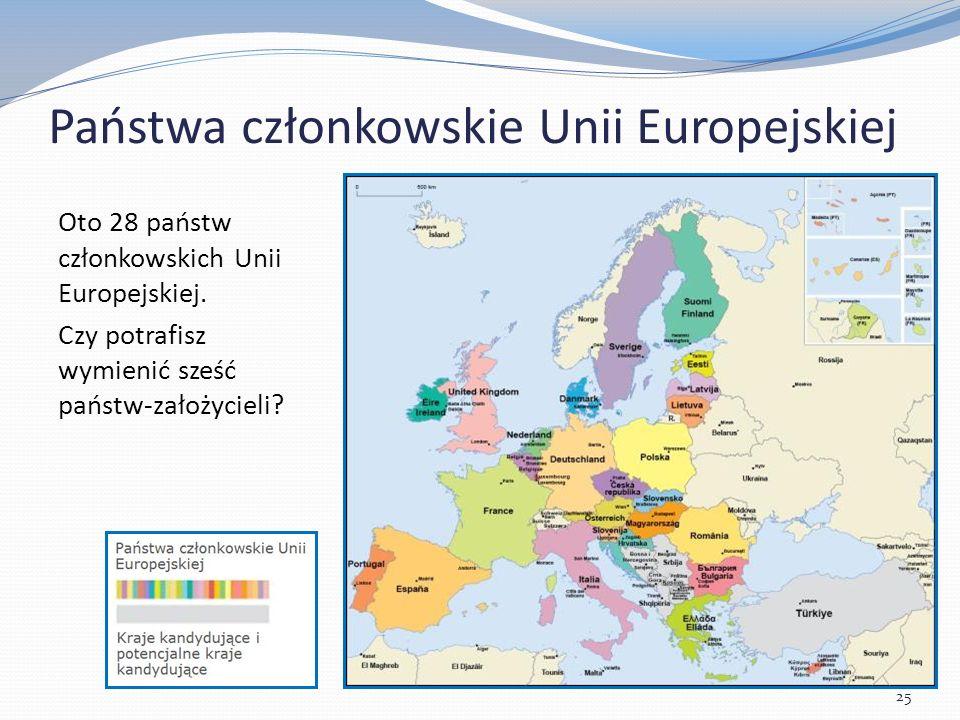 Państwa członkowskie Unii Europejskiej Oto 28 państw członkowskich Unii Europejskiej.