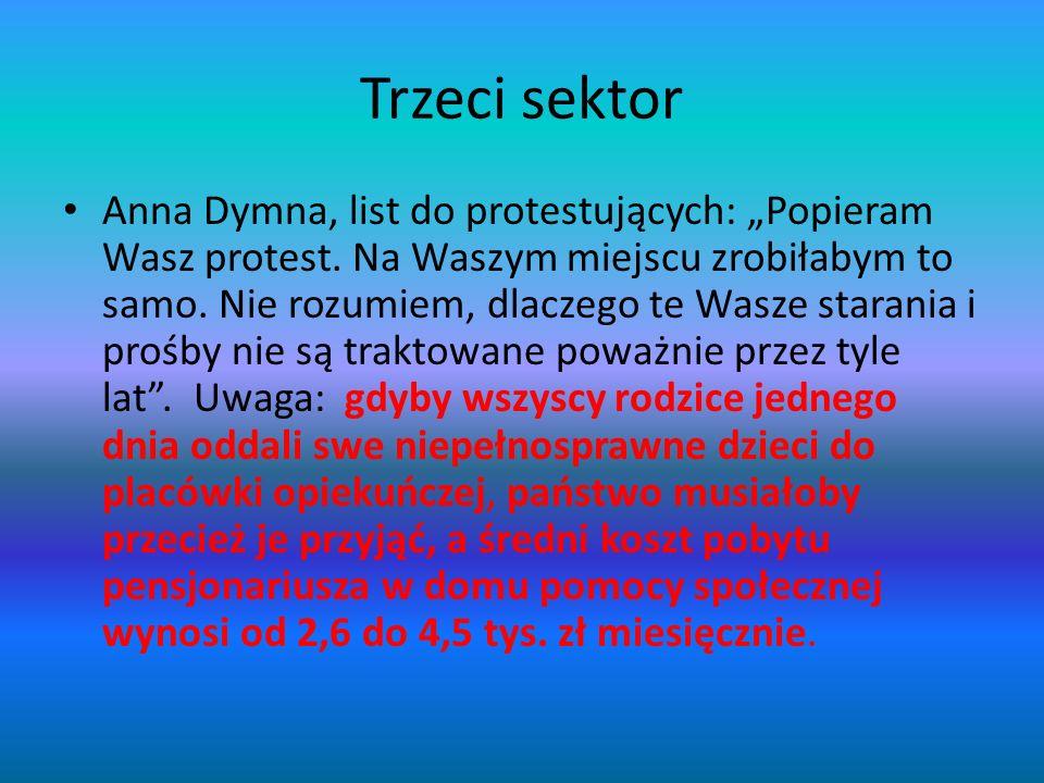 """Trzeci sektor Anna Dymna, list do protestujących: """"Popieram Wasz protest. Na Waszym miejscu zrobiłabym to samo. Nie rozumiem, dlaczego te Wasze staran"""