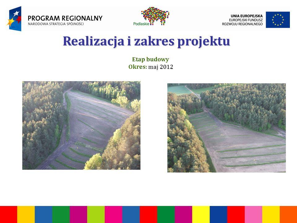 Realizacja i zakres projektu Etap budowy maj 2012 Okres: maj 2012