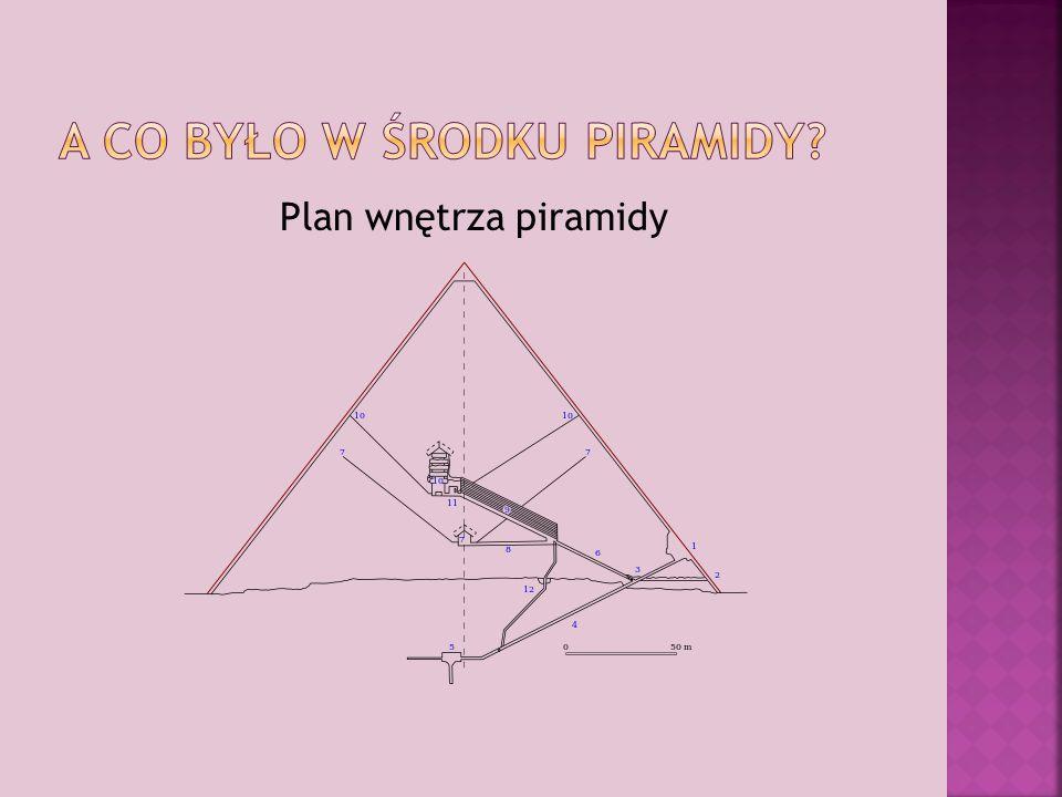 Plan wnętrza piramidy