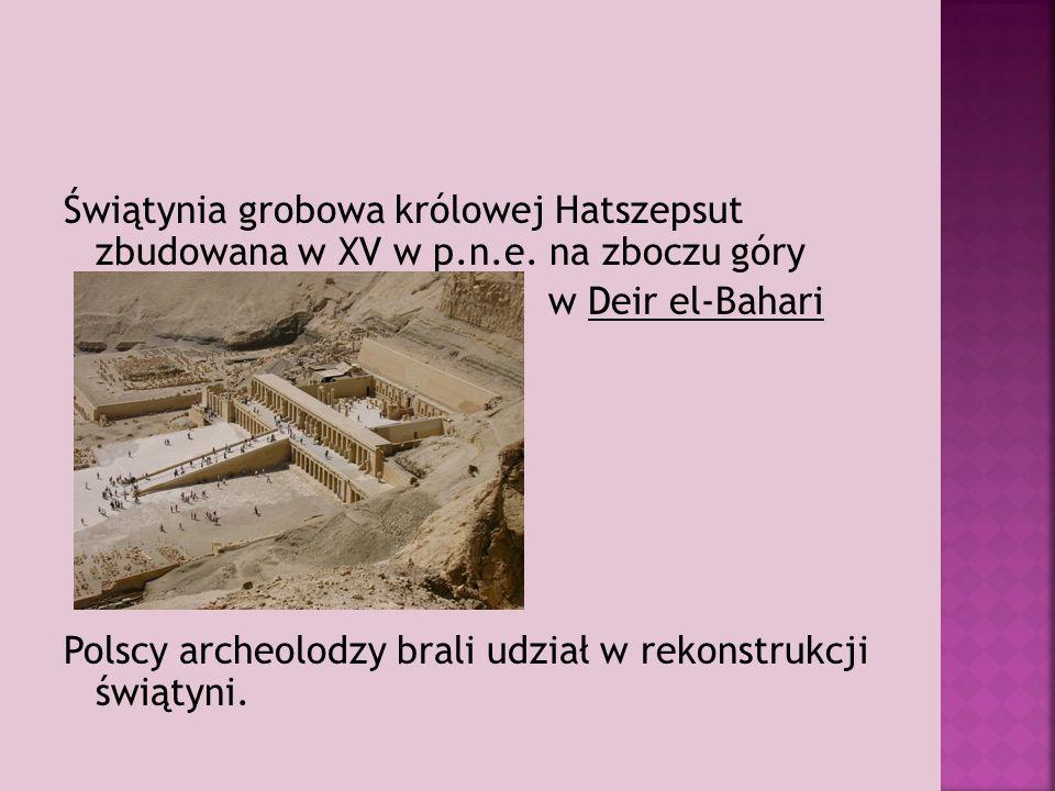 Świątynia grobowa królowej Hatszepsut zbudowana w XV w p.n.e.