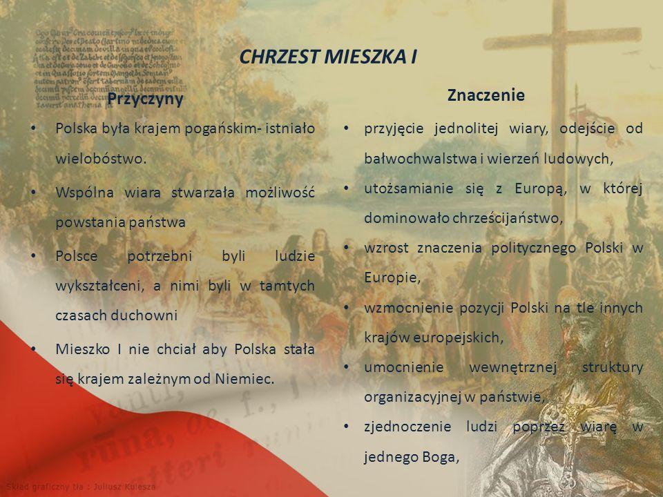 Znaczenie Przyczyny Polska była krajem pogańskim- istniało wielobóstwo.