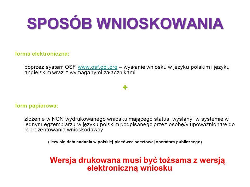 ZAKRES DANYCH WYMAGANYCH WE WNIOSKU INFORMACJE WYMAGANE W ELEKTRONICZNYM FORMULARZU WNIOSKU PUNKTY A – J wg ZAŁĄCZNIK nr 2: http://www.ncn.gov.pl/userfiles/file/konkursy_ogloszone_2013-06-14/harmonia-zal2.pdf DOKUMENTOWANIE WSPÓŁPRACY MIĘDZYNARODOWEJ W RAMACH PROJEKTU w formie załączników podpisanych przez partnera zagranicznego (punkt J wniosku) w ramach współpracy międzynarodowej nawiązanej bezpośrednio z partnerem lub partnerami z zagranicznych instytucji naukowych – dokument określający ramy współpracy między partnerami w zakresie realizacji projektu badawczego (wg wzoru) w ramach programów lub inicjatyw międzynarodowych ogłaszanych we współpracy dwu- lub wielostronnej, do wniosku - dokument potwierdzający udział w programie lub inicjatywie międzynarodowej oraz dokument określający ramy współpracy między partnerami w zakresie realizacji projektu badawczego przy wykorzystaniu przez polskie zespoły badawcze wielkich międzynarodowych urządzeń badawczych - dokument potwierdzający możliwość wykorzystania tych urządzeń