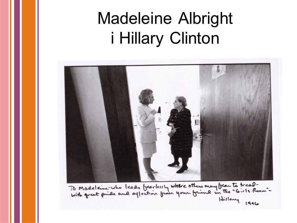 Madeleine Albright i Hillary Clinton