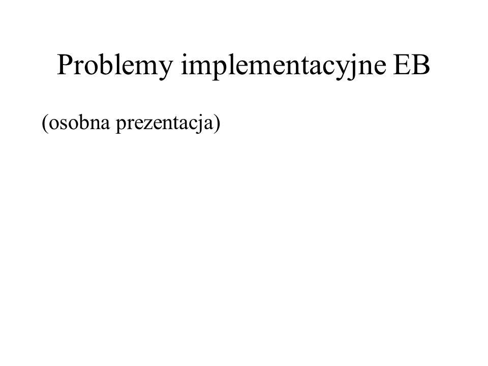 Problemy implementacyjne EB (osobna prezentacja)