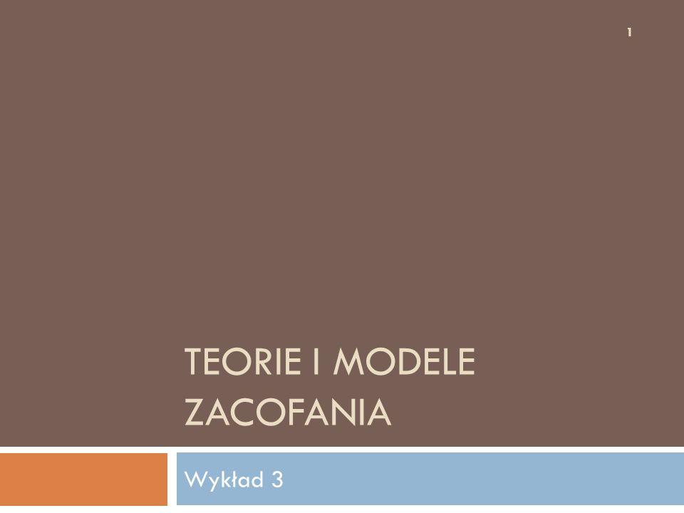 TEORIE I MODELE ZACOFANIA Wykład 3 1