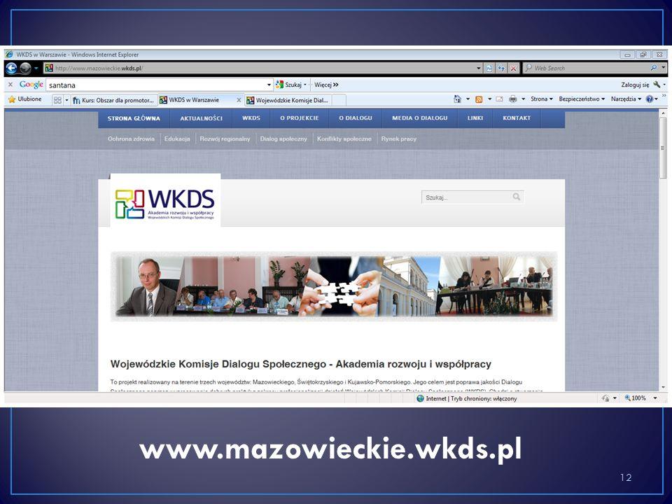12 www.mazowieckie.wkds.pl