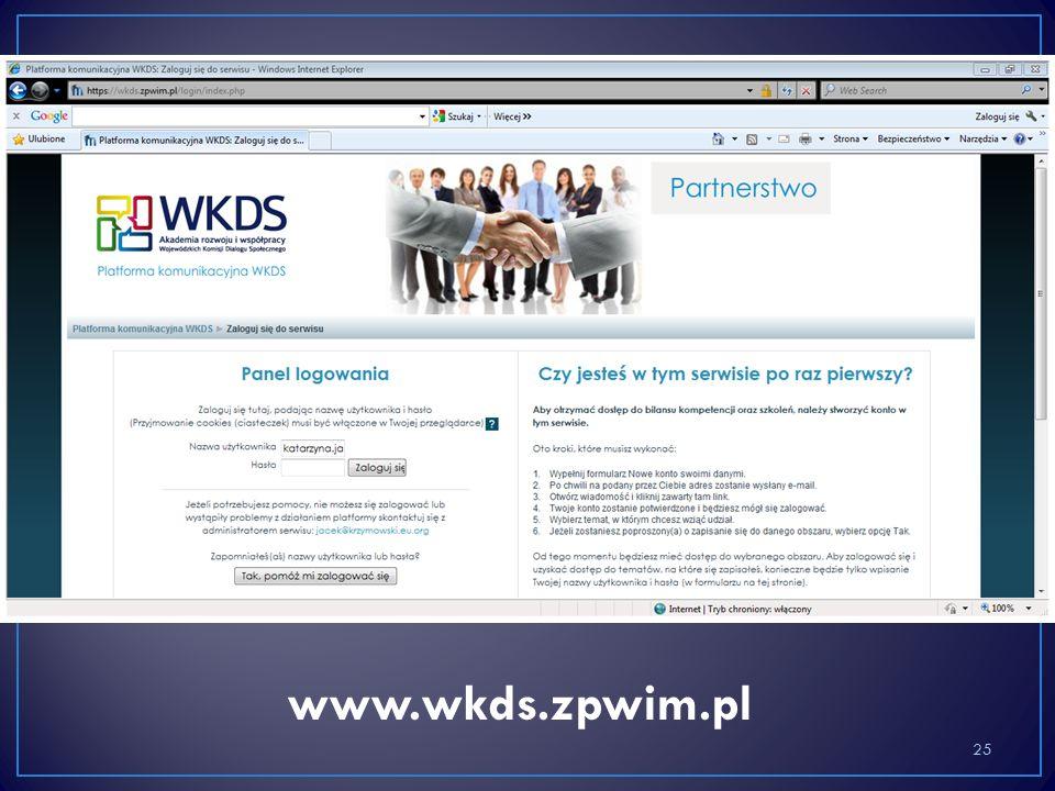 25 www.wkds.zpwim.pl