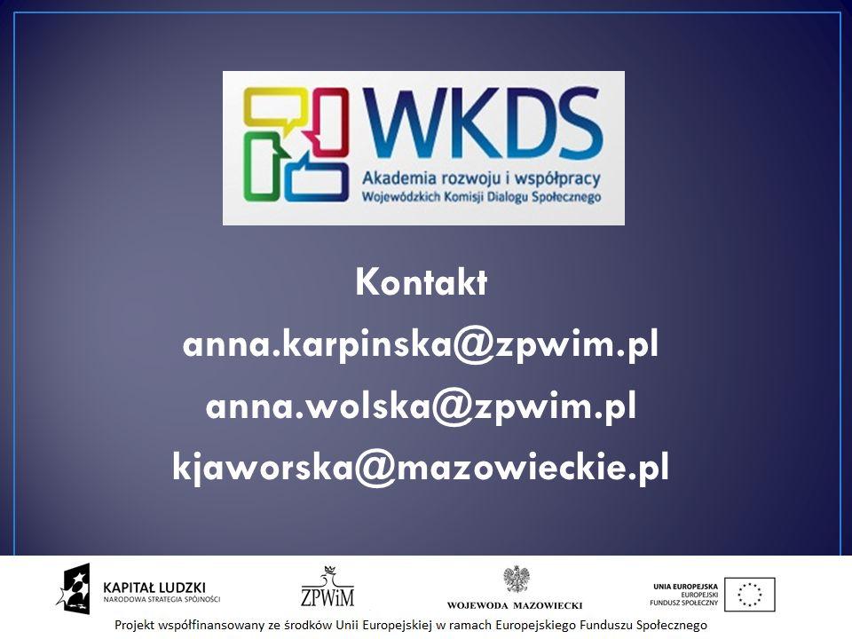 Kontakt anna.karpinska@zpwim.pl anna.wolska@zpwim.pl kjaworska@mazowieckie.pl 36