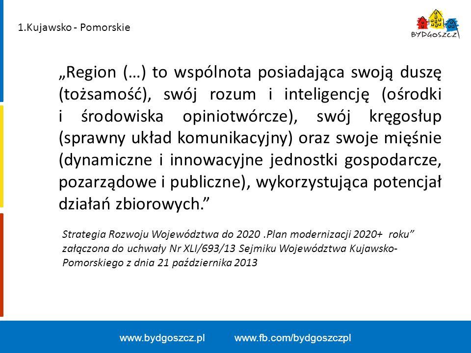 Podział dotacji z budżetu województwa bez funduszy unijnych w latach 2008-14 (kwoty w mln zł) www.bydgoszcz.pl www.fb.com/bydgoszczpl Źródło: Dane ze sprawozdań zamieszczonych na stronach internetowych miast.