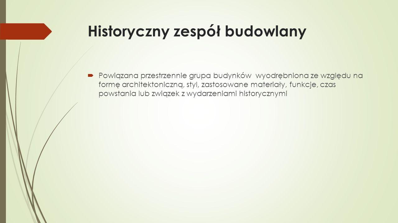 Historyczny układ urbanistyczny lub ruralistyczny - przykłady  Sępolno  Ul.