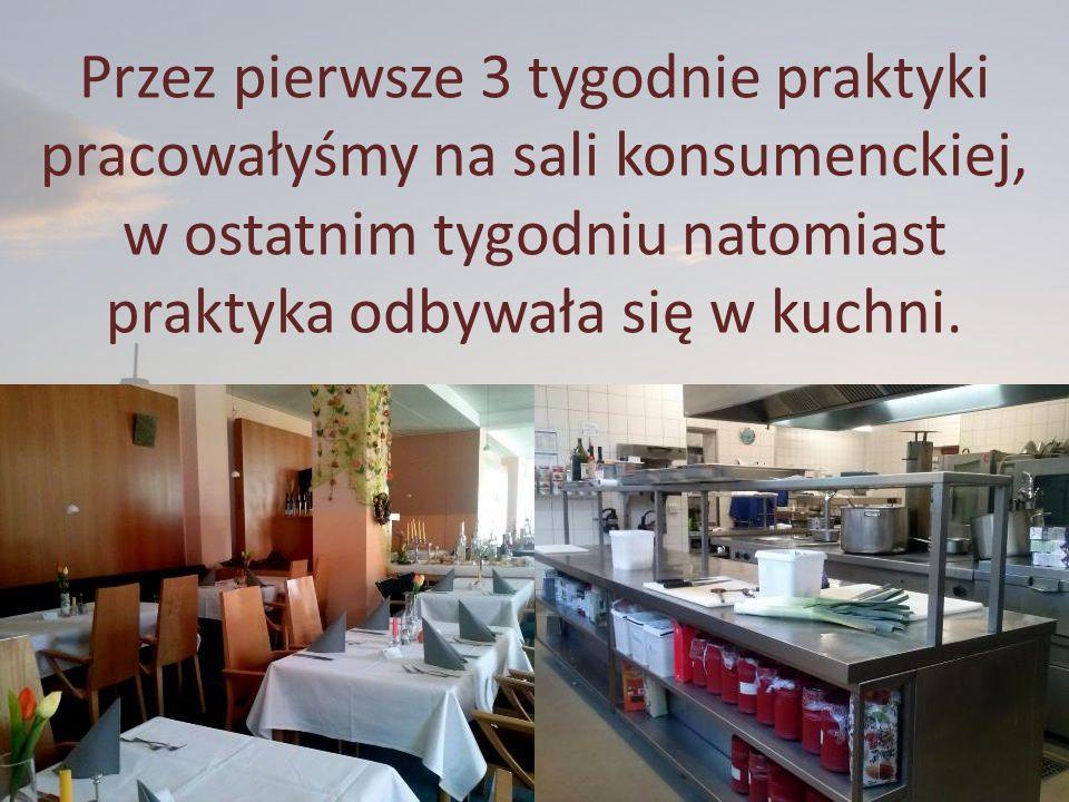 Wykonywane czynności na sali to: obsługa gości; zaparzanie i noszenie kaw na zamówienie; sprzątanie stolików; nakrywanie do stolików; sprzątanie sali konsumenckiej; podawanie potraw gościom; zbieranie zamówień; składanie serwet; polerowanie sztućców; dekoracja sali na przyjęcia okolicznościowe; mycie kieliszków w zmywarce; prowadzenie gości do stolika;