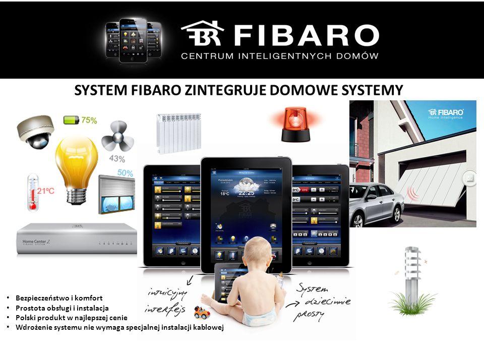 SYSTEM FIBARO ZINTEGRUJE DOMOWE SYSTEMY Bezpieczeństwo i komfort Prostota obsługi i instalacja Polski produkt w najlepszej cenie Wdrożenie systemu nie wymaga specjalnej instalacji kablowej