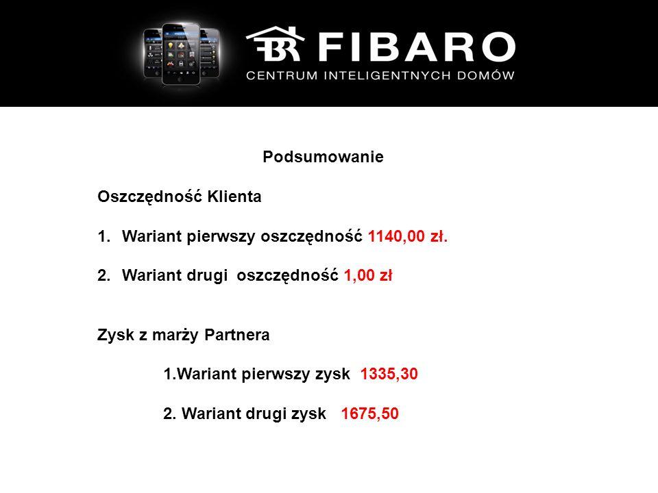 Podsumowanie Oszczędność Klienta 1.Wariant pierwszy oszczędność 1140,00 zł.