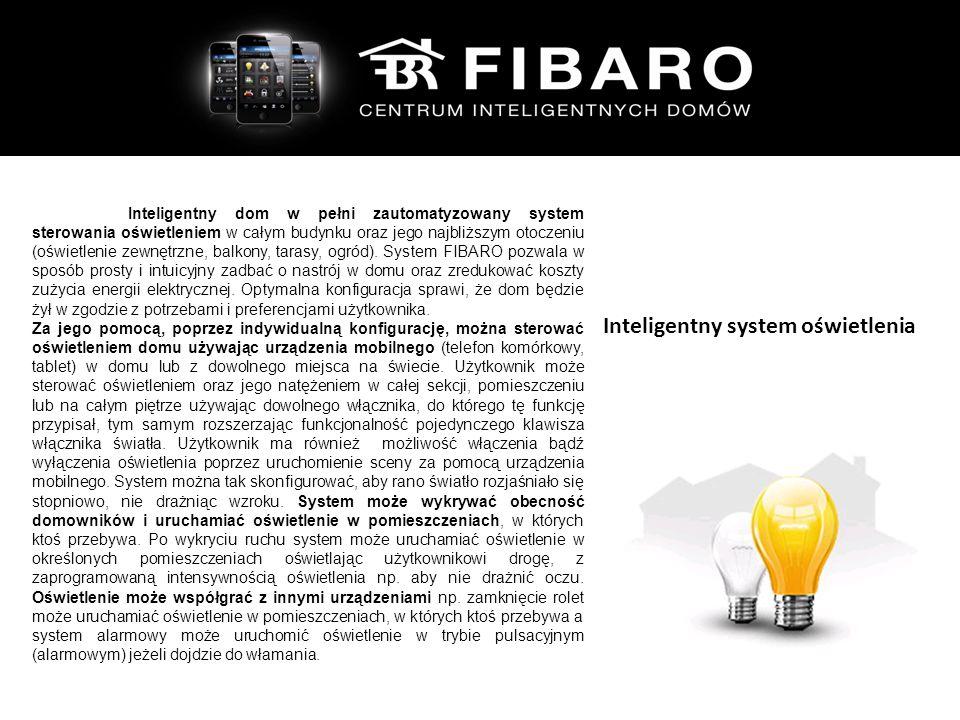 Inteligentny dom to w p Inteligentny dom w pełni zautomatyzowany system sterowania oświetleniem w całym budynku oraz jego najbliższym otoczeniu (oświetlenie zewnętrzne, balkony, tarasy, ogród).