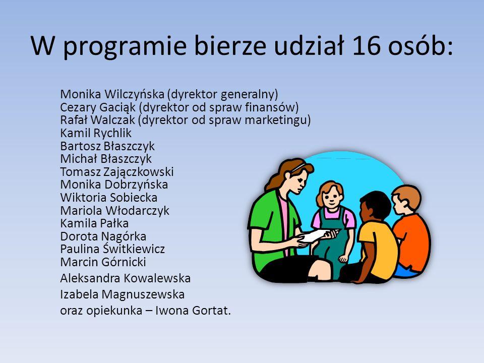 Nasza organizacja powstała z programu Młodzieżowe miniprzedsiembiorstwo pod patronatem powiatu płockiego.