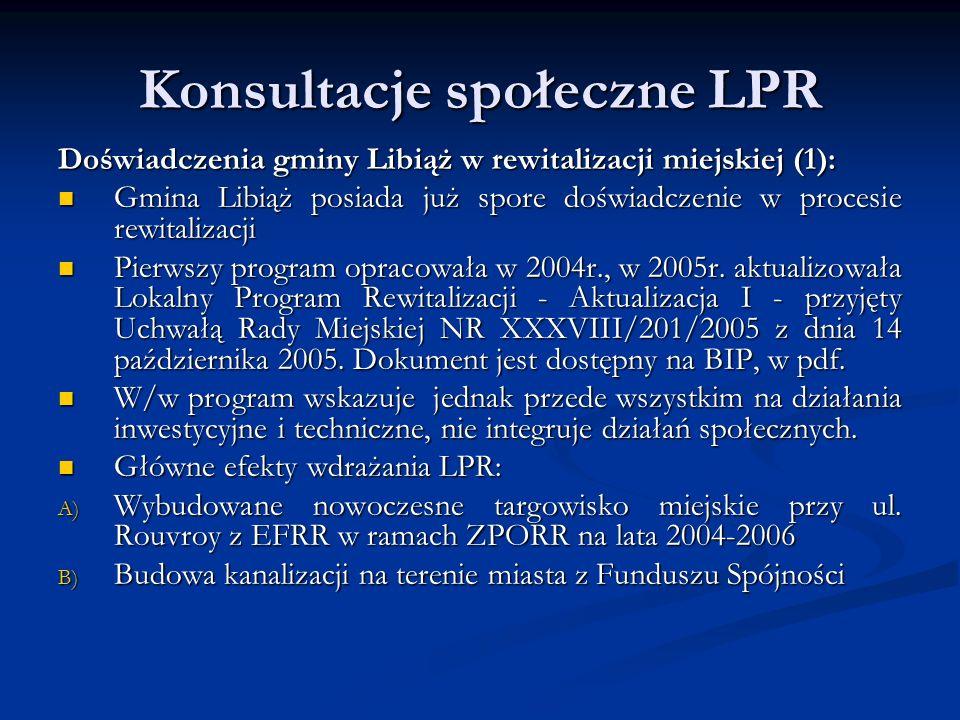 Konsultacje społeczne LPR Dziękuję Państwu za uwagę Jarosław Łabęcki Z-ca Burmistrza Libiąża
