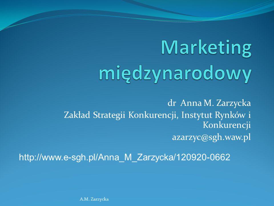 Marketing międzynarodowy A.M.