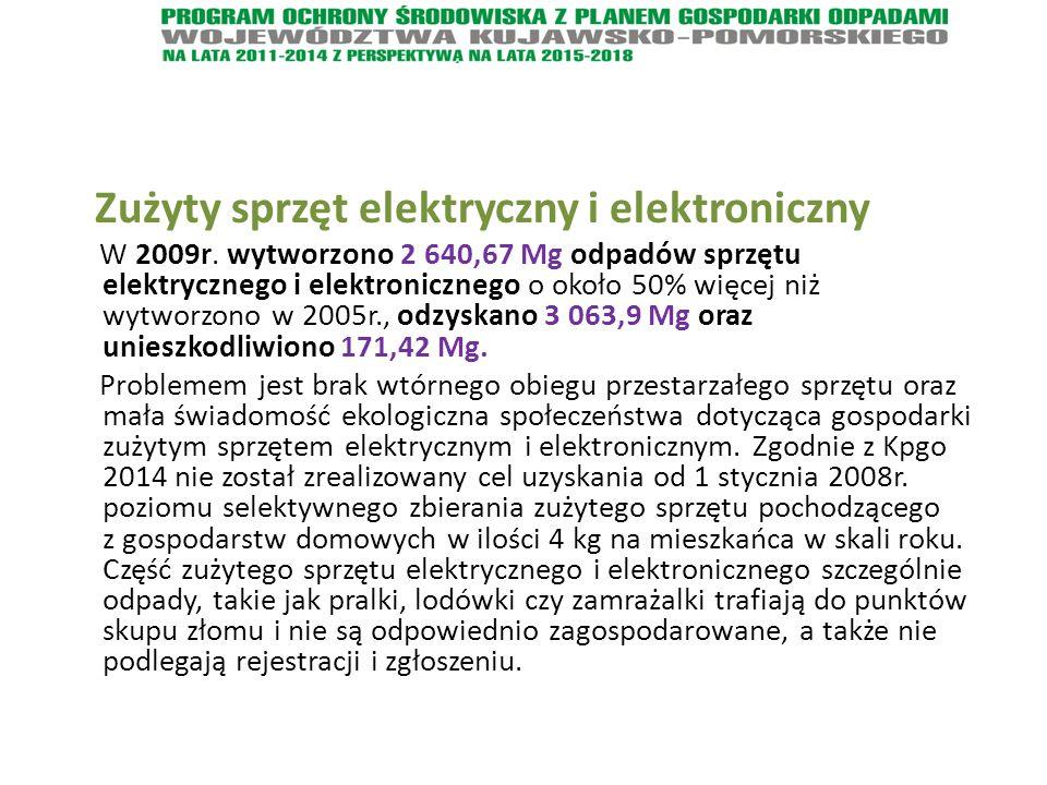 Zużyty sprzęt elektryczny i elektroniczny W 2009r.