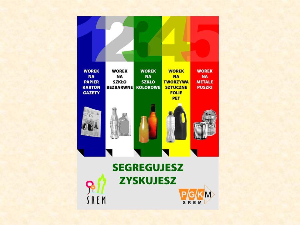 segregacja odpadów w gminach prowadzona jest jako segregacja workowa lub kontenerowa.