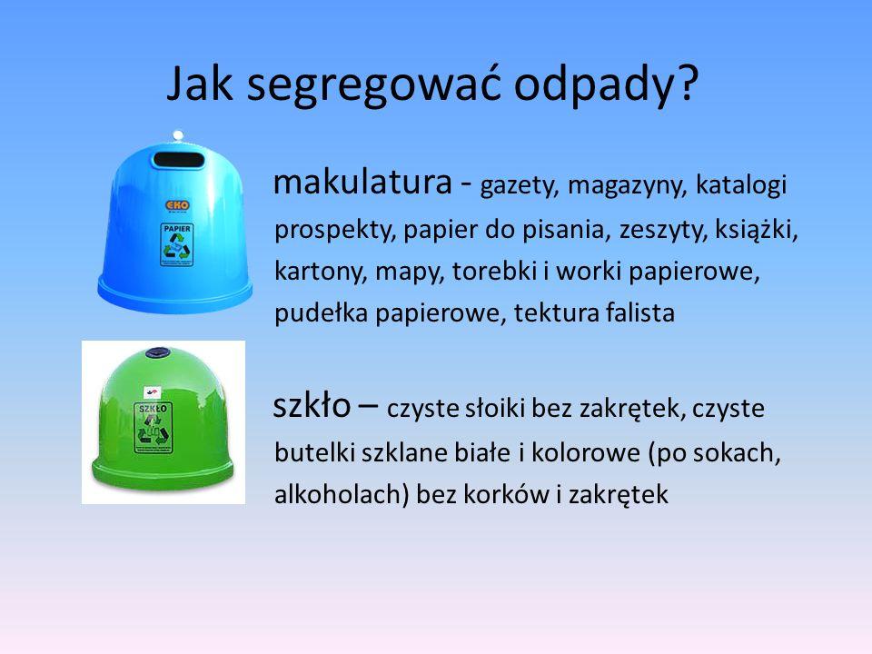 Jak segregować odpady.