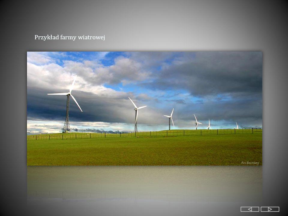 Przykład farmy wiatrowej Fot. Bloomberg
