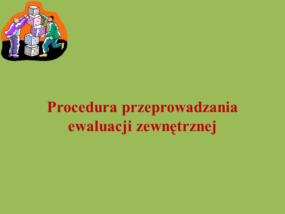 Procedura przeprowadzania ewaluacji zewnętrznej
