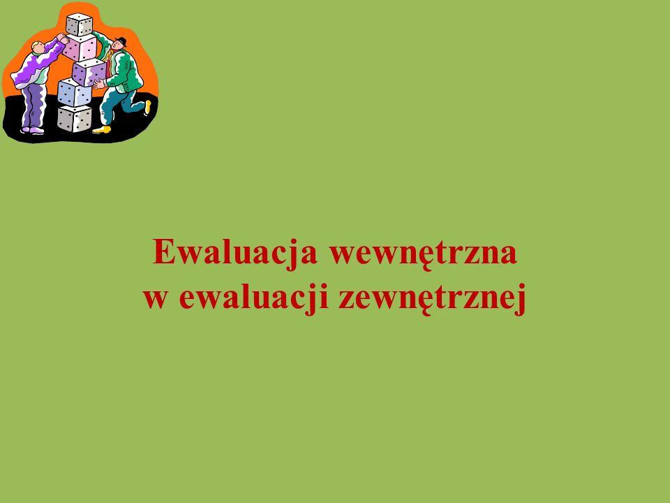 Ewaluacja wewnętrzna w ewaluacji zewnętrznej